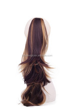 blend color brown&blonde synthetic ponytail hair extension