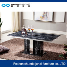 TB 51' i shape colorful marble top coffee table