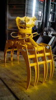 excavator hydraulic grapple/ excavator 360 degree rotating grapple