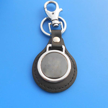 leather multi key chain/leather keyring with car logo/blank leather key chain