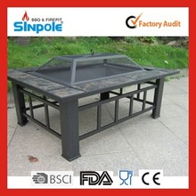 Trade assurance Sinople 2015 Outdoor Wood Burning Stove Fire Pit Table With Ceramic Tiles