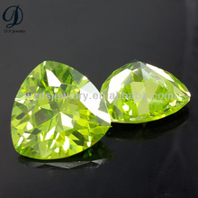 Trillion cut peridot fat triangle cz gemstones jewelry