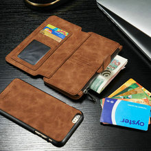 Hot design at HK Fair Brand CaseMe Multifunction Wallet Leather Case For iPhone 6 6s 6Plus 6sPlus