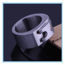 High quality fashion design hot sale H word Thick stainless steel ring