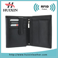 Identity theft leather wallet style rfid leather products
