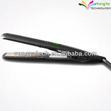 professionale per stirare i capelli neri jet digitale di ferro piatto di ceramica