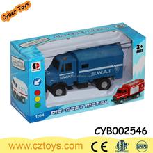 1:64 die cast toy police car fire truck metal model truck