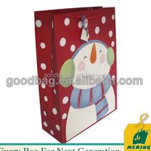Christmas on sale cmyk printing art paper shopping bag