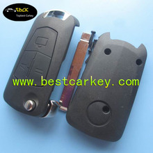 Topbest auto flip key shell for opel flip key 3 button key shell opel with HU43 blade