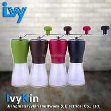 Dishwaser safe coffee mill/grinder Manual Ceramic Burr Coffee Grinder, Hand-crank Coffee Mill