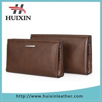 Wholesale Men's Clutch bag / Business Office Leather Clutch Wallet With Zip Pocket