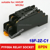 electric socket screw mini starter relay switch PYF08A 8pin relay socket factory directly