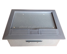 Electric floor outlet box