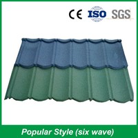 Excellent Fire Resistance Colorful Stone Coated Metal Roof Tile