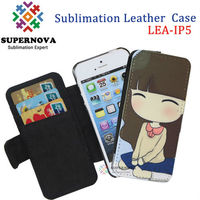 Sublimation Flip Leather Cases for iPhone 5
