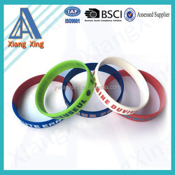 2016 new products silk printed silicone bracelet