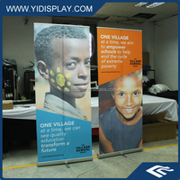 Large format spring up banners