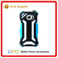 [UPO] Fancy Waterproof Shockproof tough Gorilla Glass Aluminum Metal Case for s6 edge