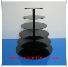6 Tiers clear acrylic round cake stand wedding birthday display rack