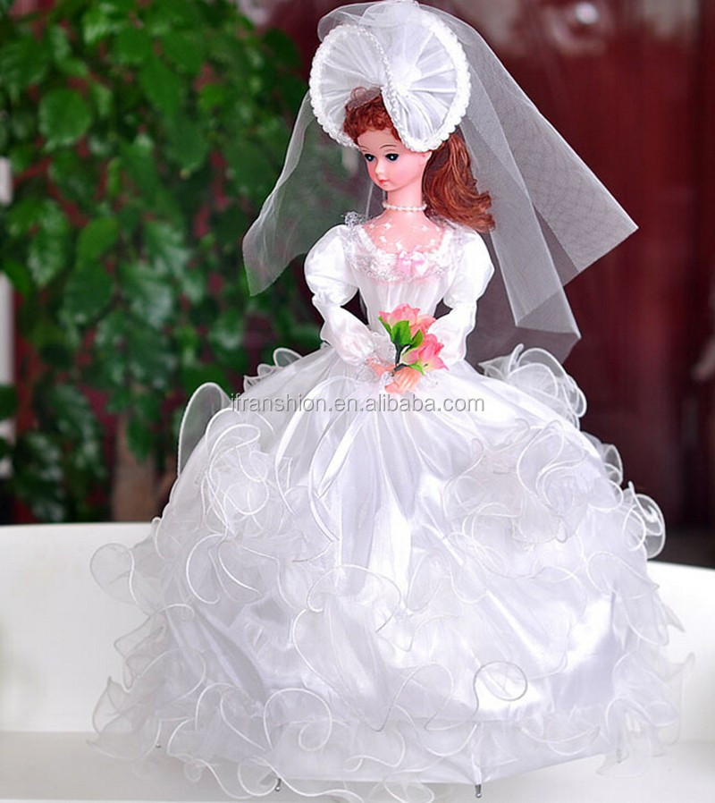 elegant wedding dress barbie dolls with music and rotatable buy
