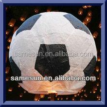Football style luminary sky lanterns