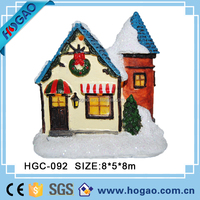 OEM&ODM china factory christmas resin products, Christmas winter village house, led lighting