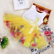 Cut beauty high quality baby girl fairy dress dress flower girl dress patterns free QGD-1519