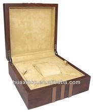 Brown single watch box with champagne brush aluminium