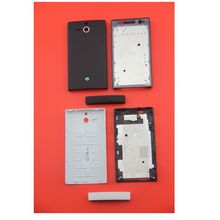 For Sony Xperia U ST25i ST25 Black White New Full Cover Housing Case Shell Replacement with original logo repair parts SN-020