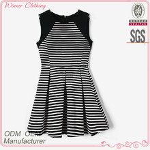 Good Quality Fashion Custom design horizontal stripe dress summer