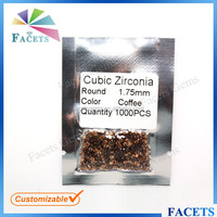 FACETS GEMS Loose Sell Cheap Round Coffee CZ Rough Diamond Sellers