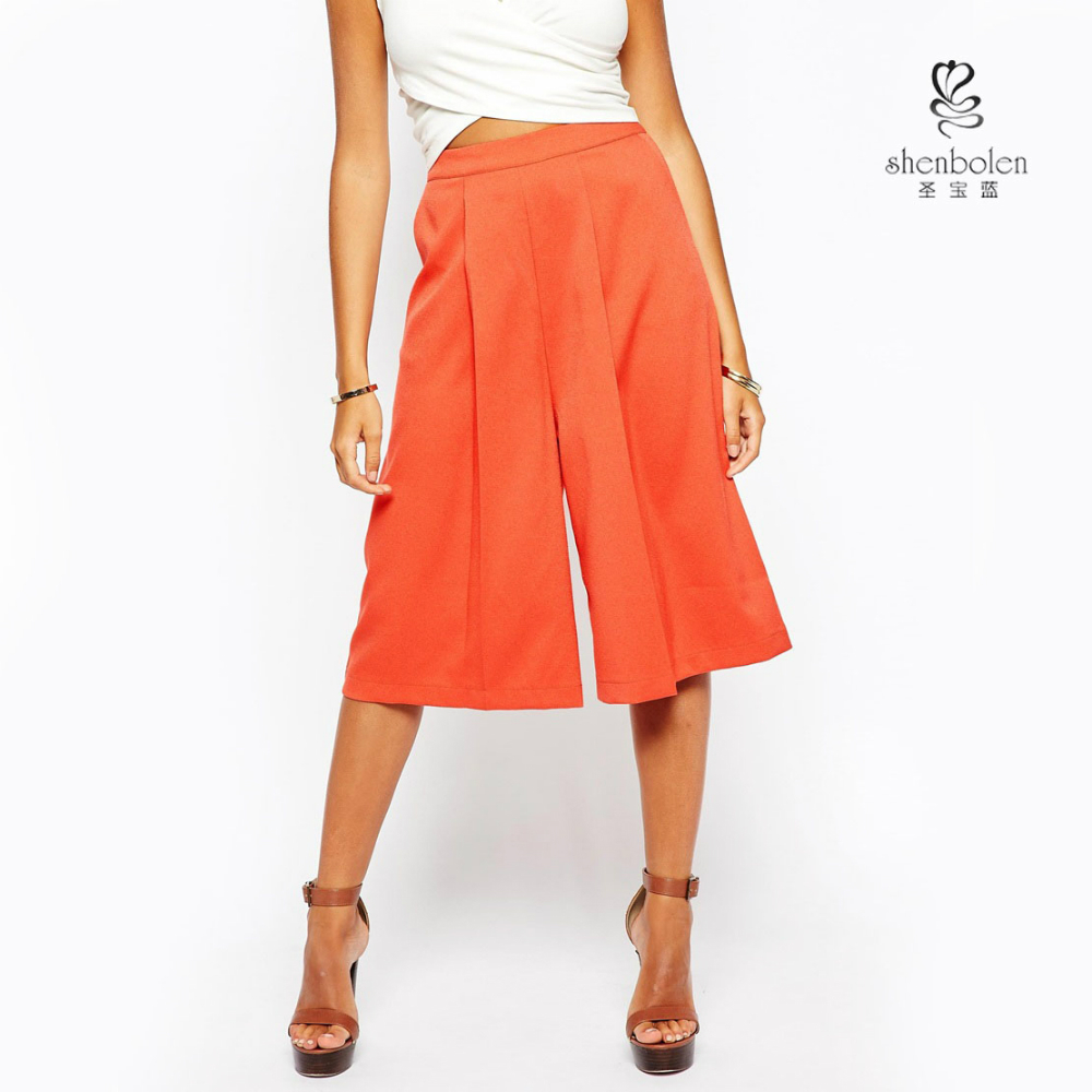 Awesome Arrival 2016 Summer Fashion Loose Pleated Chiffon Wide Leg Pants Women