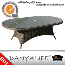 DYDS-D9823 Danyalife Hot Selling Garden Decoration 8 seat Round Wicker Tables