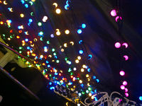 2014 Cheap RGB Color Holiday party LED Ball String light copper wire Wholesale