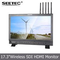HD Broadcast screen 17.3 inch 1920*1080 pixels lcd display built in wireless SDI HDMI receiver whdi camera top monitor
