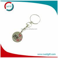 gold coin keychain,coin holder keychain diy,trolley coin keyring