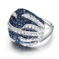 crystal jewelry gold plated pave diamond magic umode arabic fashion ring
