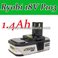 1 x Ryobi 18V battery P103 Li-ion ONE+ Rechargeable BATTERY P103 1.4Ah