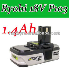 1 x Ryobi 18V battery P103 Li-ion ONE+ Rechargeable BATTERY P103 1.4Ah