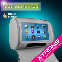 """Xtrons HD908T 2 x 9"""" Grey Color HD Headrest Car DVD Player with Touch Screen"""