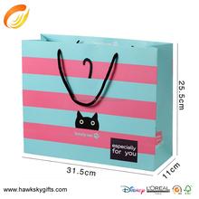 4 Color Printing Stripes custom luxury Paper Shopping Bag