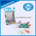 caliente venta de plástico juguete del animal salvaje con el mapa