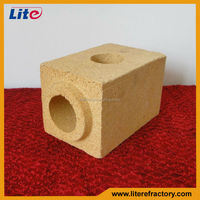 Refractory fireclay sleeve brick