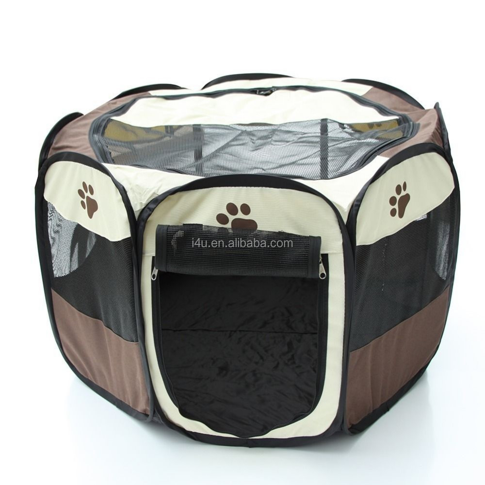 Pink Pet Puppy Dog Playpen Exercise Pen Kennel.
