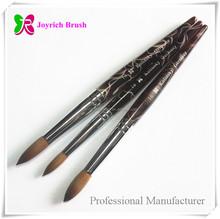 Acrylic handle coffee pure red sable brush Kolinsky pensils