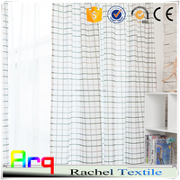Black and white simple waffle pattern window/ livingroom curtain modern style polyester/ cotton fabric