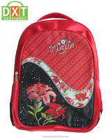 Microfibre high quality cheap custom red gril student school bag