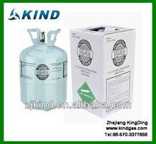 99.9% pur r134a réfrigérant gas13.6kg / 30lbs jetable cylindre
