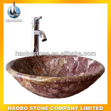 Seashell Red Mable Washing Sink and Basin for Bathroom and Kitchen Room