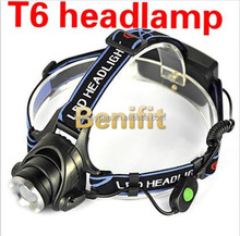Wholesale 2000lumen headlamp XM-L T6 2000Lm LED Headlamp Torch Flashlight Rechargeable Zoomable headlamp